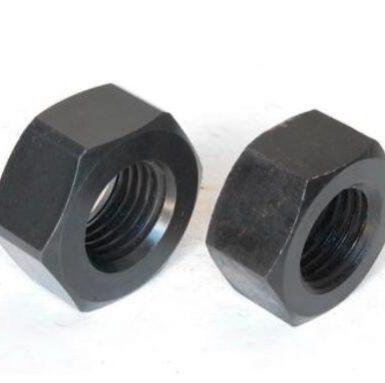 ASME standard hex nut fekete oxid